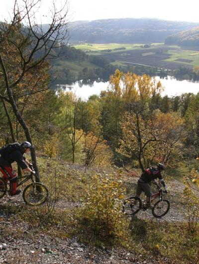 Mountainbike auf der Frankenalb