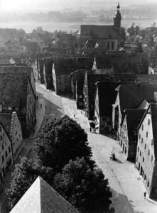 Blick vom Rathausturm nach 1950