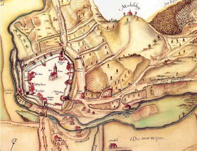 Hersbruck im Pfinzingatlas von 1596