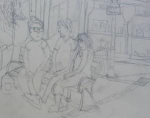 Klappstuhl Zeichnung