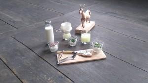 Pressefoto Ziegenmilch -käse -molke