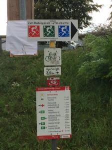 Radwegenetz Hammerbachtal Schild