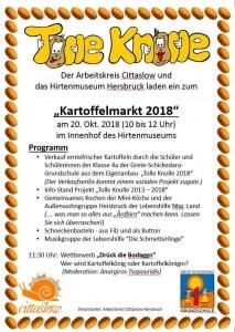 Kartoffelmarkt 2018 Flyer