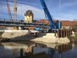 Kuhpegnitzbrücke Behelfsbrücke