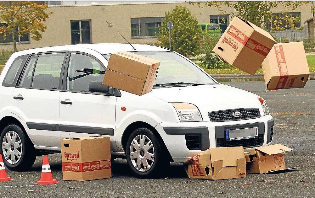 Fahrsicherheitstraining PKW mit Kisten
