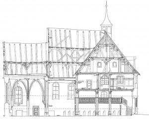 Aufriss Spitalkirche Birke dokuplan_ret