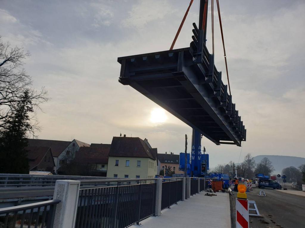 Abbau der Behelfsbrücke ©Antritt Bau